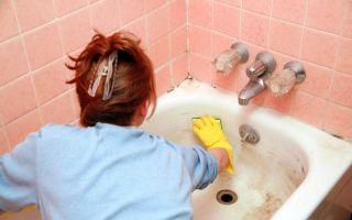 Как отмыть ржавчину и налет в ванной