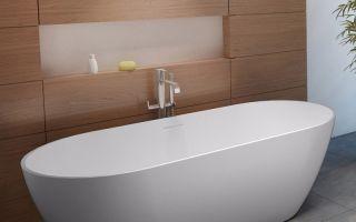 Ванны из литьевого мрамора – особенности выбора и эксплуатации
