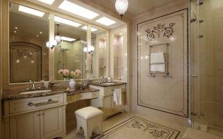 Ванная в классическом стиле – сочетание традиций, роскоши и удобства