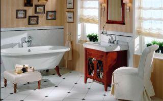 Актуальная ванна в стиле ретро – мода всегда возвращается!