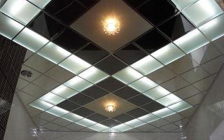 Подвесной потолок в ванной — виды и монтаж своими руками