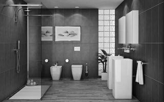 Ванная комната в серых тонах – как продумать дизайн