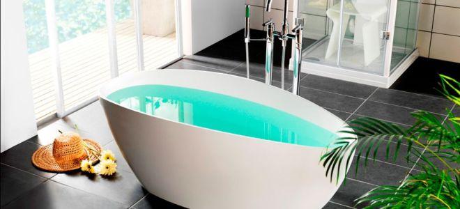 Особенности овальной отдельностоящей ванны