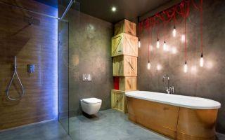 Ванна в стиле лофт – современный городской шик минимализма