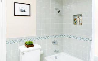 Как правильно подобрать декор плитки в ванной и отделать ее?