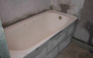 Установка ванны после укладки плитки – особенности технологии