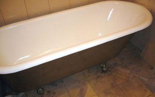 Как и чем покрасит чугунную ванну – материалы и технология нанесения
