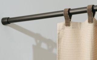 Выбор штанги для шторы в ванную и ее установка