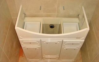 Самостоятельная установка раковины с тумбой в ванной