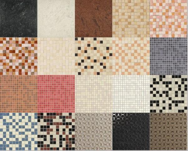 Многообразие цветовых гамм и фактур плитки