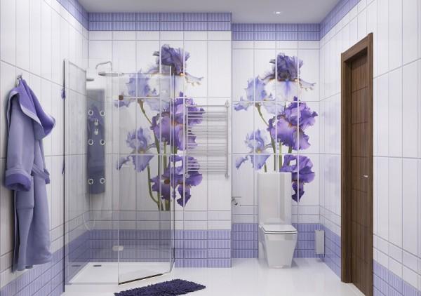 Стеновые панели в виде панно для ванной