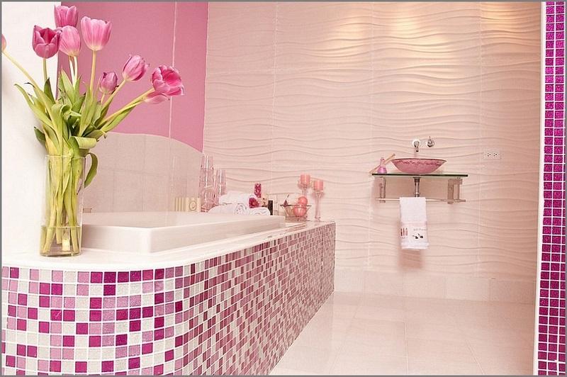 Розовая мозаика ванная комната итальянская мебель гардеробные комнаты