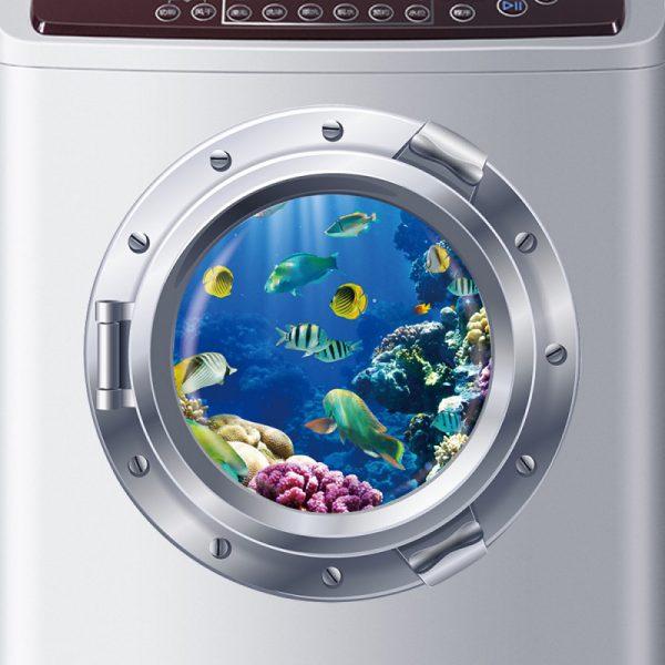 Наклейка на стиральной машине