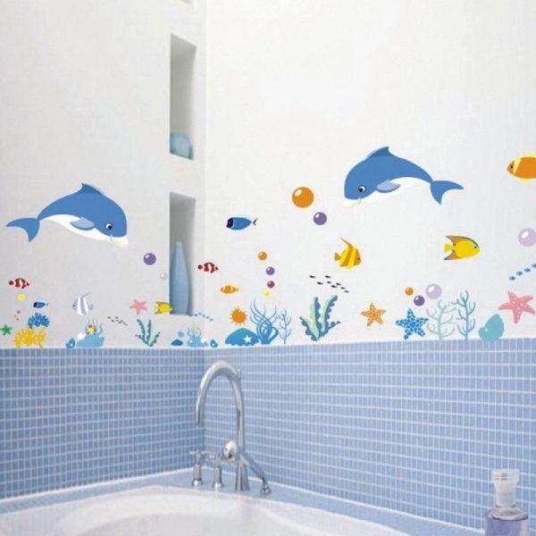 Vinyl wall tiles bathroom