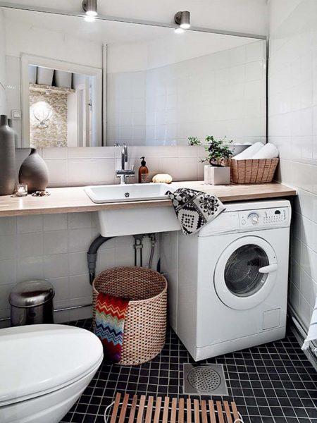 Установка стиральной машины в ванной комнате