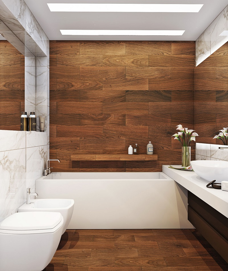 Bathroom tile floor and wall ideas