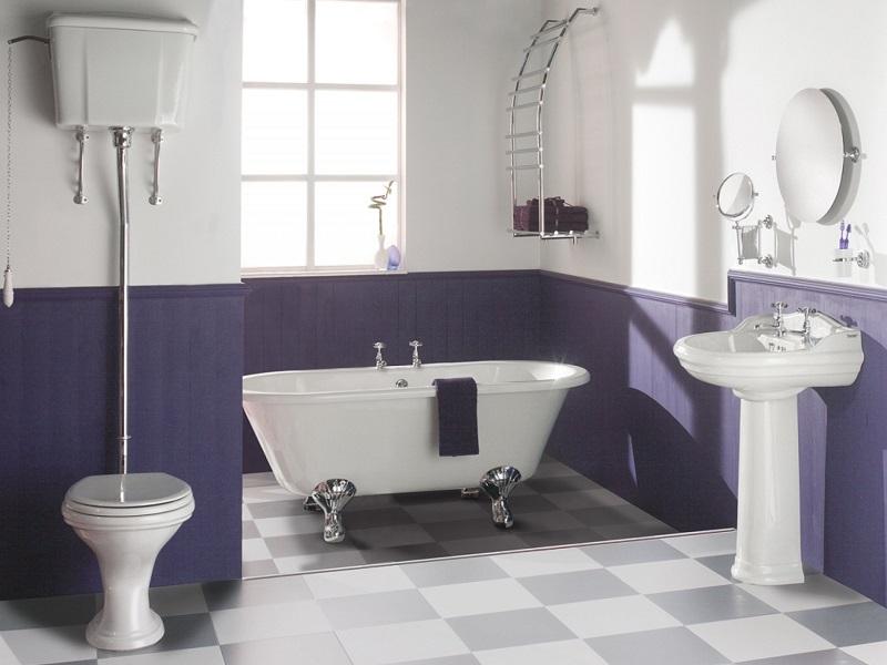 Чем окрашивают ванные комнаты прямоугольная мебель в ванную