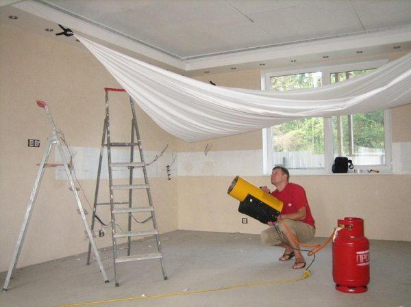 Специальное оборудование для натяжных потолков
