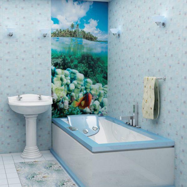 Пластиковая плитка в ванную комнату
