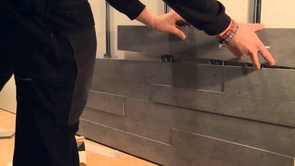 Монтаж панелей на металлический каркас