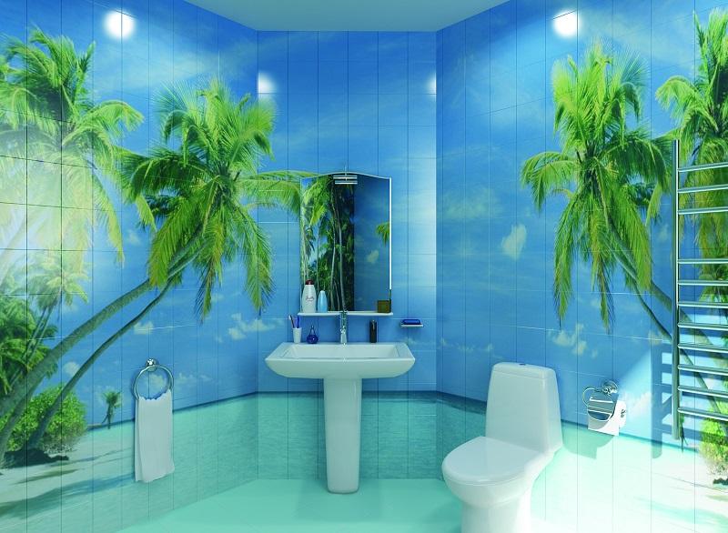 панели для ванной комнаты с рисунком фото