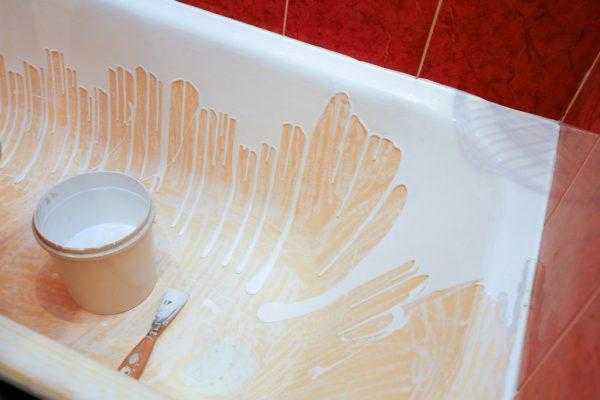 Реставрация чугунной ванны своими руками