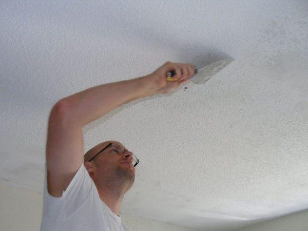 Подготовка потолка под покраску