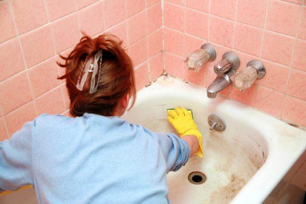 Чистка ванны в домашних условиях