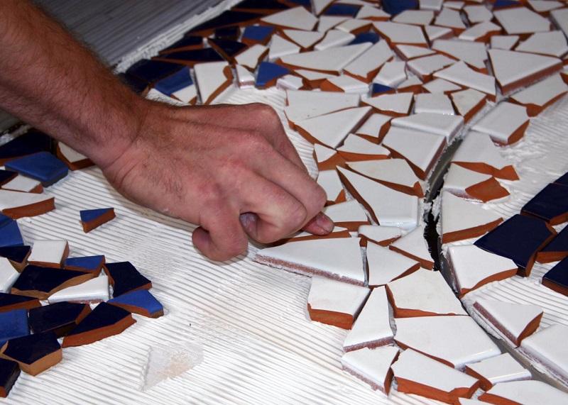 Как сделать мозаику из битого кафеля