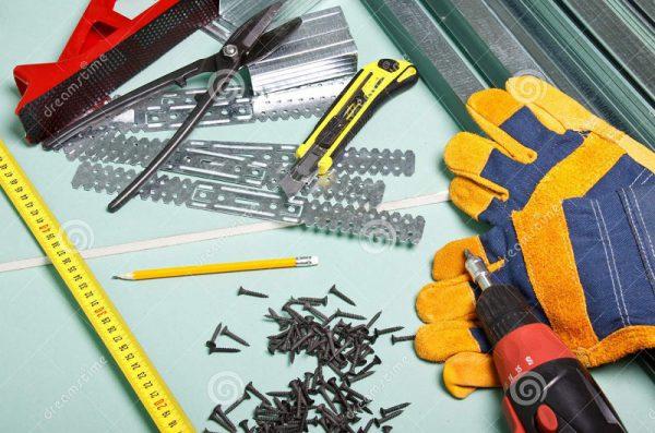Инструменты для монтажа потолка
