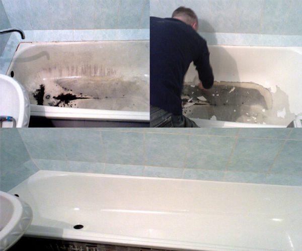 Результат реставрации ванны
