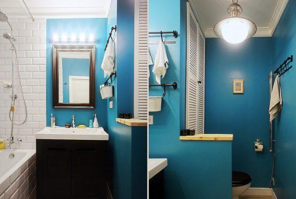 Покрашенная ванная комната