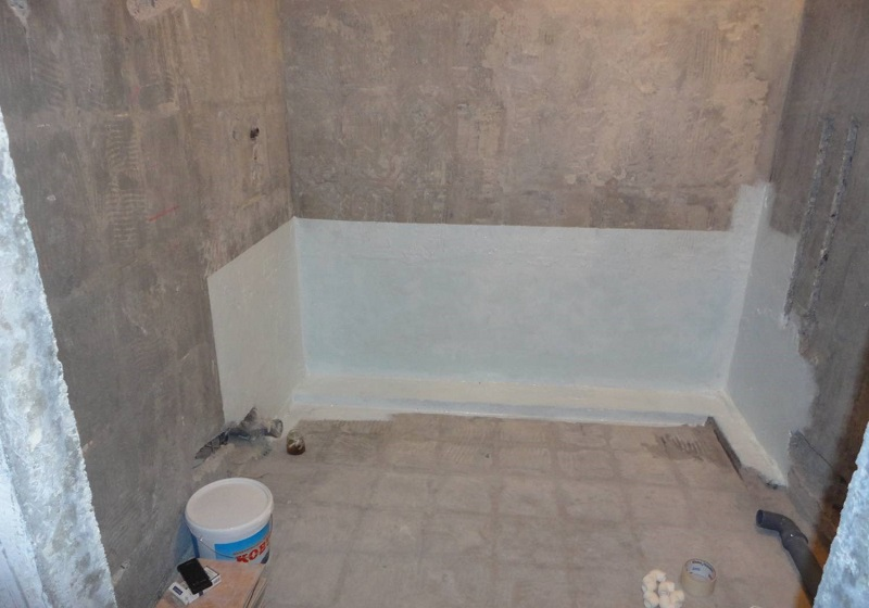 Как сделать гидроизоляцию в ванной в новостройке 110
