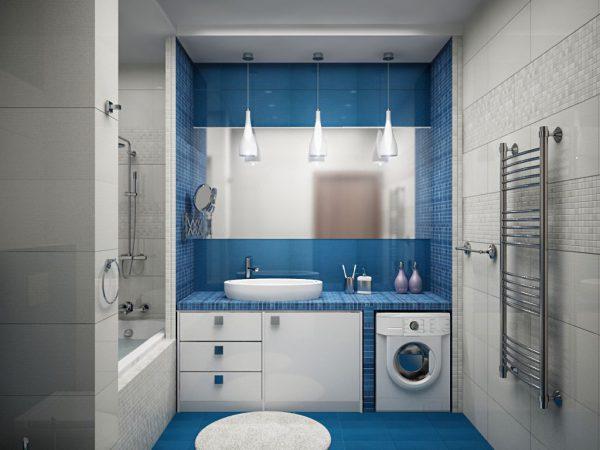 Квадратная форма ванной комнаты