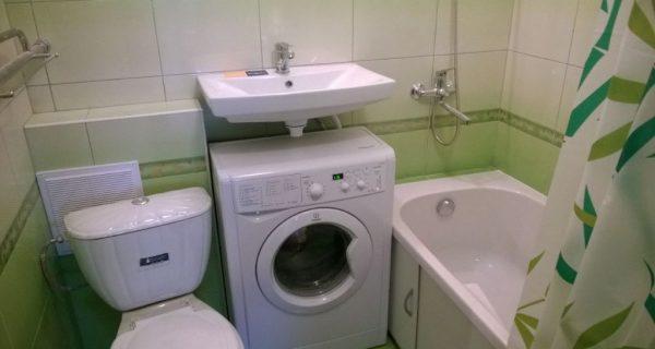 Vaskemaskine i badeværelse design