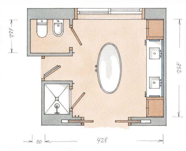 Схема санузла