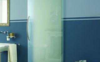Стеклянные двери для ванной — виды и установка