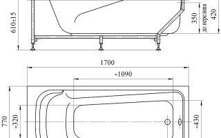 Какие бывают размеры акриловой ванны