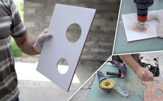 Как сделать отверстие в плитке под розетку?