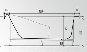 Высота ванны от пола – стандарт и допустимые отклонения при установке
