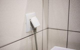 Розетка для стиральной машины в ванной — правила выбора и размещения