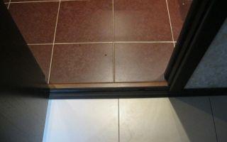 Порог в ванной комнате — важные мелочи ремонта