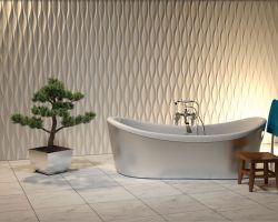 3д панели для ванной — бюджетный вариант отделки