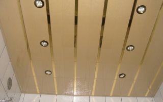 Реечный потолок в ванной комнате — выбор и монтаж