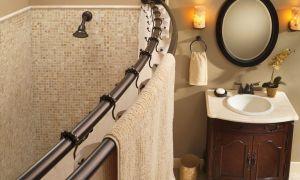 Как выбрать и установить карниз для ванной комнаты