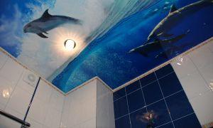 Натяжные потолки в ванной: плюсы и минусы технологии