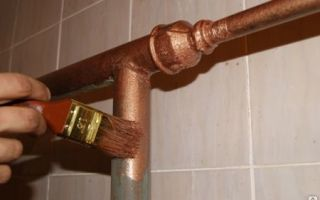 Как самостоятельно покрасить трубы в ванной