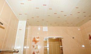 Пластиковый потолок в ванной – крепление и монтаж