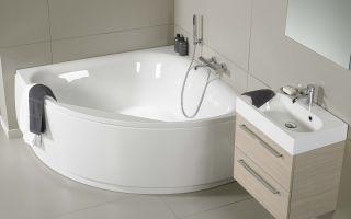 Угловые и ассиметричные акриловые ванны: виды и особенности