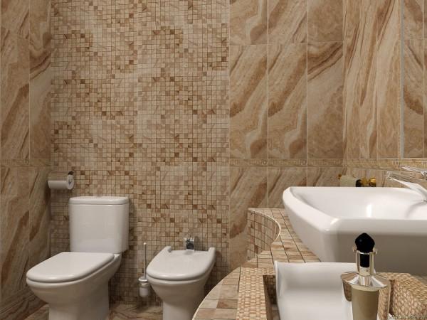 Вставка из мозаики в общий интерьер плитки